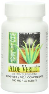 Source Naturals Aloe Verite Whole Leaf, 60 Tablets