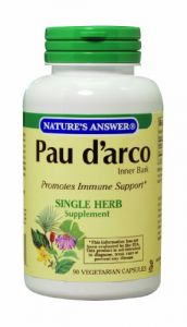 "Nature""s Answer Pau D""arco Inner Bark, Vegetarian Capsules, 90-count"