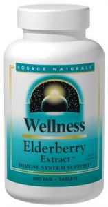 Source Naturals Elderberry Extract (wellness) 500mg, 120 Tablets