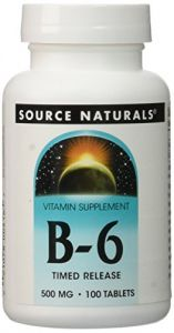 Vitamin B-6 500mg Timed Release Source Naturals, Inc. 100 Sustained Release Tabl