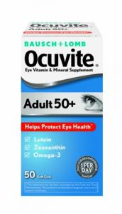 Bausch & Lomb Ocuvite Eye Vitamin & Mineral Supplement For Adults 50+, 50-count Soft Gels (pack Of 2)