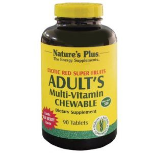 "Nature""s Plus Adult""s Multi-vitamin Chewable Exotic Red Super Fruits -- 90 Tablets"