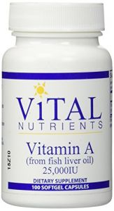 Vital Nutrients 25000 Iuvitamin A From Fish Oil, 100 Count