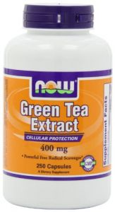Now Foods Green Tea Extract 400 Mg, 250 Gelatin Capsules