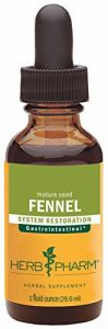 Herb Pharm Certified Organic Fennel Extract For Digestive System Support - 1 Ounce