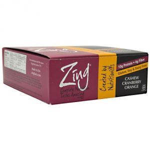 Zing Nutrition Bar-cranberry Orange-box Zing Bars 12 Bars Box