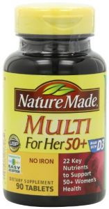 Nature Made Multi For Her 50+ Multiple Vitamin And Mineral, 90 Tablets (pack Of 3)