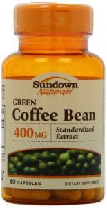 Sundown Naturals Green Coffee Bean Extract Capsules, 60 Count 400 Mg.