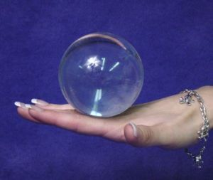 Clear Acrylic Contact Juggling Ball - 2.75 Inches - 70mm