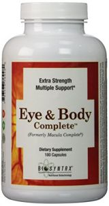 Biosyntrx Eye And Body Complete, 180 Capsules
