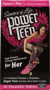 "Power Teen For Her Multi Nature""s Plus 60 Chewable"