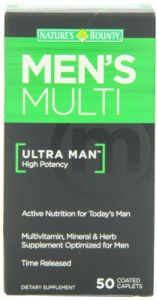 "Nature""s Bounty Ultra Man High Potency Vitamin/mineral And Herbal Formula For Men, 50 Tablets"