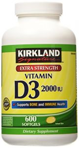 Kirkland Signature Extra Strength Vitamin D3 2000 I.u. 600 Softgels, Bottle