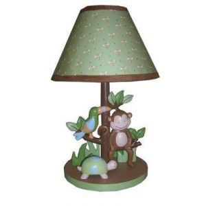 Lambs & Ivy Papagayo Lamp With Shade And Bulb, Green