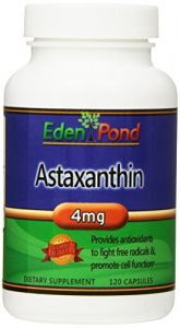 Eden Pond Astaxanthin-natural Powerful Bio Astaxanthin Antioxidant Supplement 4mg Capsules, 120 Count