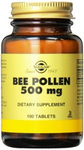 Solgar Bee Pollen Tablets, 100 Count