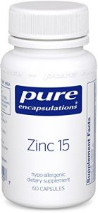 Pure Encapsulations - Zinc 15 60 Vcaps