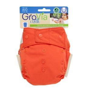 Grovia Cloth Diaper Cover - Snap - Persimmon - One Size
