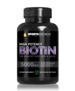 Biotin (high Potency) 5000mcg Per Veggie Softgel; Enhanced With Coconut Oil For Better Absorption; Supports Hair Growth