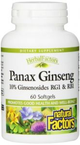 Natural Factors Ca Meyer, Panax Ginseng Extract, High Energy, 100mg , 60 Softgels