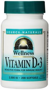 Source Naturals Wellness Vitamin D-3 2000 Iu, 200 Softgels