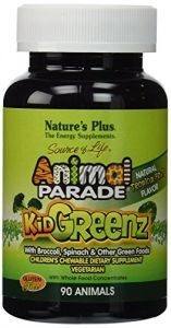 "Nature""s Plus - Animal Parade Kid Greenz, 250 Mg, 90 Chewable Tablets"
