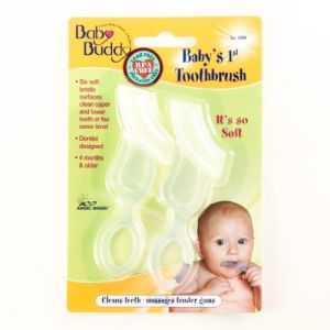 Baby Buddy Babys 1st Toothbrush, Clear, 2-count