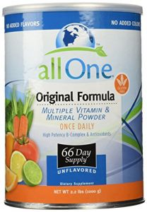 All One Powder Multiple Vitamins & Minerals, Original Formula, 2.2-pound Can