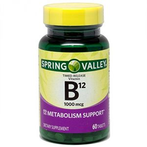 Spring Valley - Vitamin B-12 1000 Mcg, Timed Release, 60 Tablets