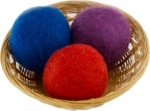 Everyday Willow Wool Dryer Balls Gift Set Of 3, Colors May Vary