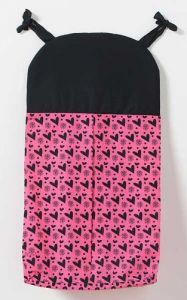 One Grace Place Sassy Shaylee Diaper Stacker, Black And Pink