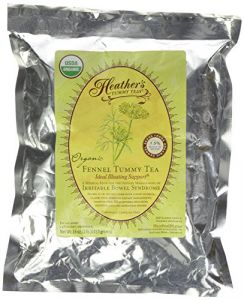 "Heather""s Tummy Teas Organic Fennel Loose Tea Pouch (16 Oz) For Ibs"
