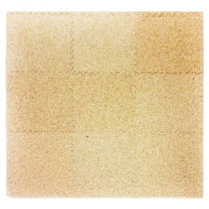 Tadpoles 9 Sq Ft Cork Topped Playmat Set, Natural