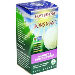 "Host Defense Lion""s Mane Capsules, Memory & Nerve Support, 60 Count"