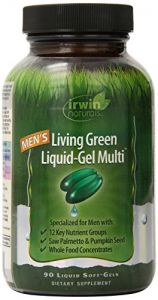 "Irwin Naturals Men""s Living Green Liquid-gel Multi Soft-gels, 90-count Bottle"