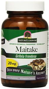 "Nature""s Answer Maitake Bio-beta-glucan Vegetarian Capsules, 60-count"