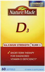 Nature Made Maximum Strength Vitamin D 10,000 I.u. Soft Gel, 60 Count
