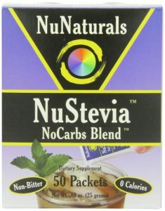 Nunaturals Nustevia Nocarbs Blend, 50 Packets