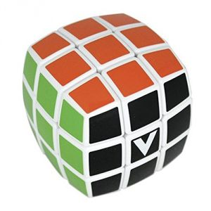 V-cube 3 White Multicolor Cube Pillowed