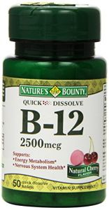 "Nature""s Bounty Sublingual Vitamin B-12, 2500mcg, 50 Tablets (pack Of 3)"