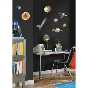 Baby Care (Misc) - RoomMates RMK1003SCS Space Travel Peel and Stick Wall Decals
