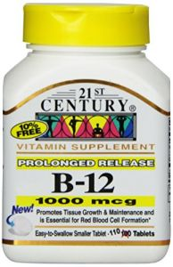 21st Century B-12 1000 Mcg Prolonged Release Tablets, 110-count