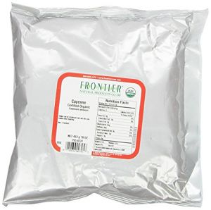 Frontier Chili Peppers Ground, Cayenne Cert. Org. 30,000 Hu, 16 Ounce Bag