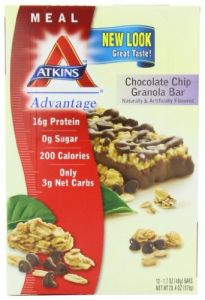 Atkins Advantage Bars, Chocolate Chip Granola, 1.7-ounce Bars, 12 Count