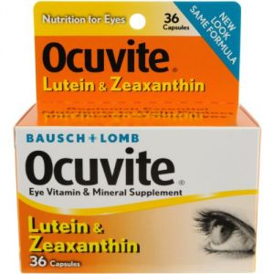 Bausch & Lomb Health Supplements - Bausch & Lomb Ocuvite Vitamin & Mineral Supplement Capsules with  Lutein , 36-Count Bottles (Pack of 2)