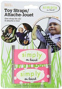 Simply On Board 2 Pack Toy Strap, Pink