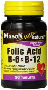 Mason Vitamins Heart Formula B6/b12/folic Acid Tablets, 90-count Bottles (pack Of 3)