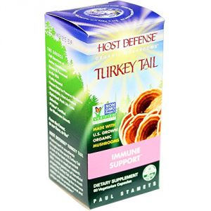 Host Defense Turkey Tail Capsules, Immune Support, 60 Count