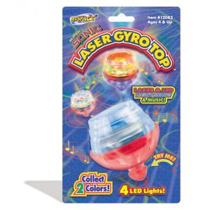 Geospace Super Sonic Laser Gyro Top Spinning Toy With LED Lights