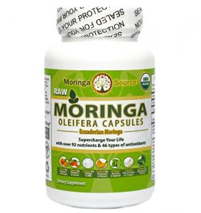 Moringa Oleifera Superfood Capsules - Pure Usda Organic - 400mg Each, 120 Ct